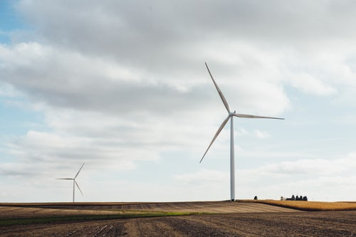 an image of two windmill